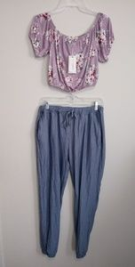 Other - Midriff Top & Jogger Pants (M/L)
